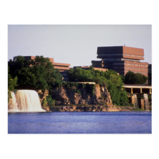 Rideau Falls and Pearson Building, Ottawa, Ontario Postcard