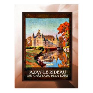 Rideauu de los les de Azay, castillo francés del L Postal