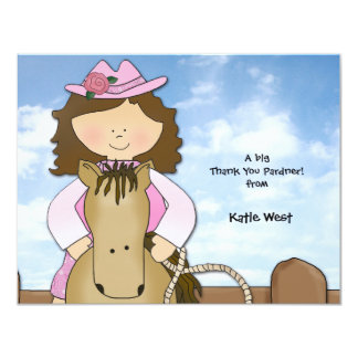 Ride'em Cowgirl Personalized Thank You/Notecard Card