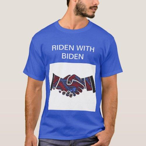 Riden with Biden Mens Basic Dark T_shirt