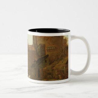 Rider and Bather Two-Tone Coffee Mug
