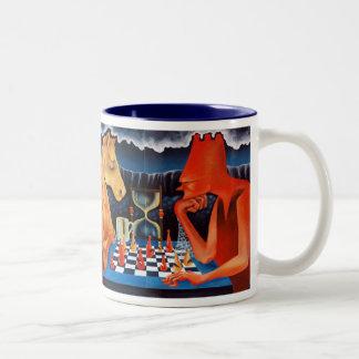 Rider and turn playing the insane one Two-Tone coffee mug