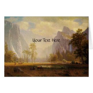 Rider at Lake in Canyon Painting Card
