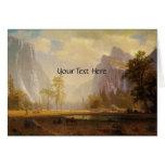 Rider at Lake in Canyon Painting Greeting Card