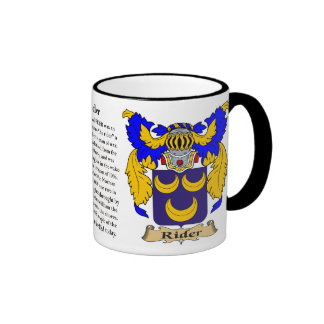 Rider Family Coat of Arms Coffee Mug