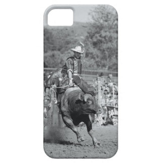 Rider hanging on to bucking bull 2 iPhone 5 covers