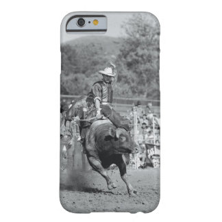 Rider hanging on to bucking bull 2 barely there iPhone 6 case