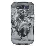 Rider hanging on to bucking bull samsung galaxy SIII case