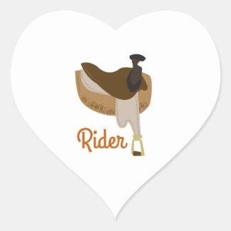 Rider Heart Sticker