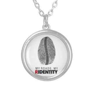 Rider Identity Round Pendant Necklace