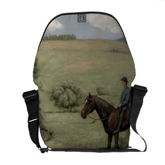 Rider in a Landscape, 1894 (oil on board) Courier Bag