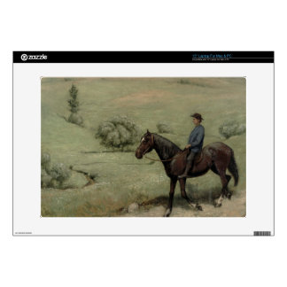 Rider in a Landscape, 1894 (oil on board) Laptop Decals