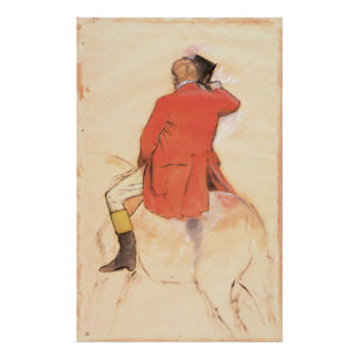 Rider in a Red Coat by Edgar Degas Poster