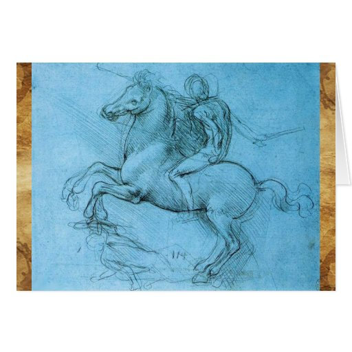 Rider on a Rearing Horse Card