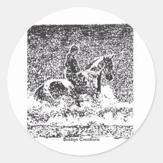Rider on the Beach Classic Round Sticker