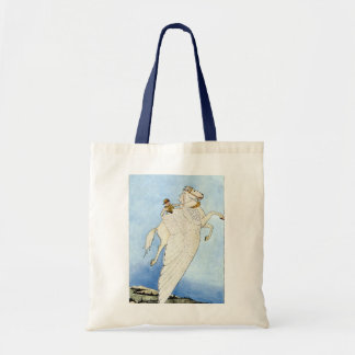 Rider on Winged Horse, Tote Bag