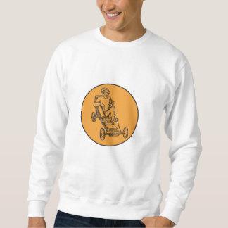 Rider Riding Soapbox Etching Sweatshirt