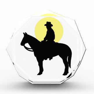 Rider Silhouette Acrylic Award