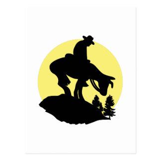 Rider Silhouette Postcard