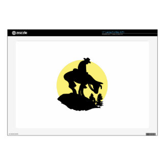 "Rider Silhouette 17"" Laptop Skin"