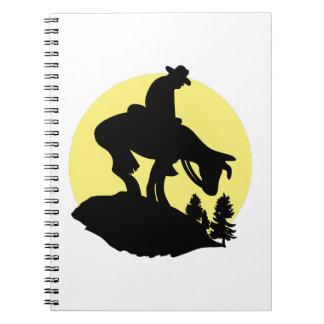 Rider Silhouette Spiral Note Book