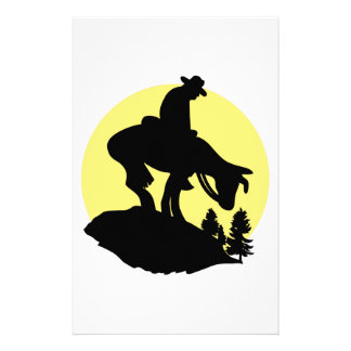 Rider Silhouette Stationery