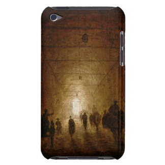Riders and Pedestrians Passing Through an Arched P iPod Case-Mate Case
