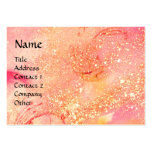 RIDERS IN THE NIGHT bright pink,red,gold sparkles Business Card Template
