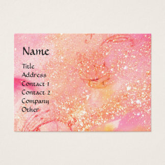 RIDERS IN THE NIGHT bright pink,red,gold sparkles Business Card