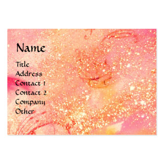 RIDERS IN THE NIGHT bright pink,red,gold sparkles Large Business Card