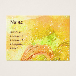 RIDERS IN THE NIGHT bright yellow ,gold sparkles Business Card