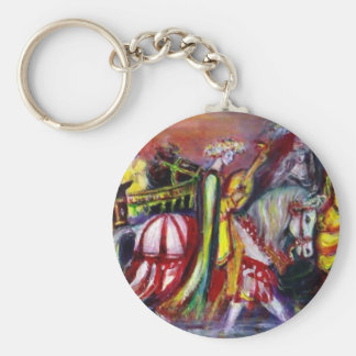 RIDERS IN THE NIGHT detail Basic Round Button Keychain