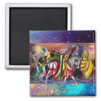 RIDERS IN THE NIGHT detail Magnet
