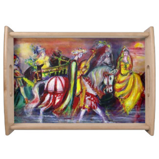 RIDERS IN THE NIGHT Fantasy Serving Tray