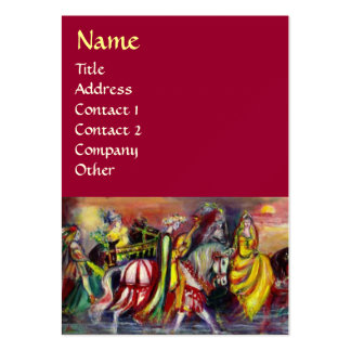 RIDERS IN THE NIGHT LARGE BUSINESS CARD