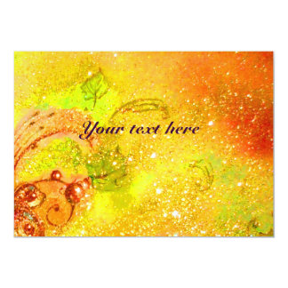 RIDERS IN THE NIGHT,red yellow brown sparkles Card