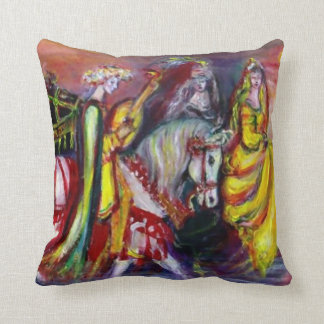 RIDERS IN THE NIGHT THROW PILLOW