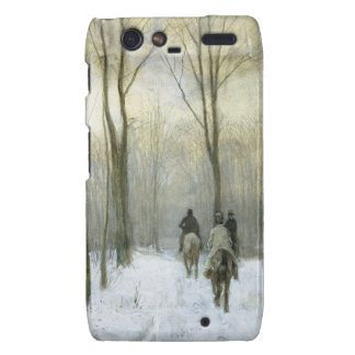 Riders in the Snow in the Haagse Bos, Anton Mauve Droid RAZR Cover