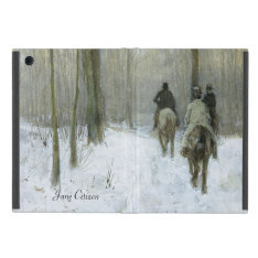 Riders in the Snow in the Haagse Bos, Anton Mauve iPad Mini Case at Zazzle