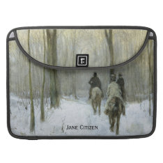Riders In The Snow In The Haagse Bos, Anton Mauve Macbook Pro Sleeve at Zazzle