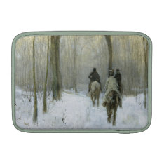 Riders In The Snow In The Haagse Bos, Anton Mauve Macbook Sleeve at Zazzle