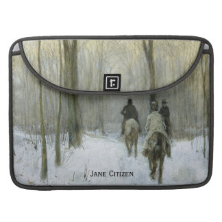 Riders in the Snow in the Haagse Bos, Anton Mauve Sleeves For MacBook Pro