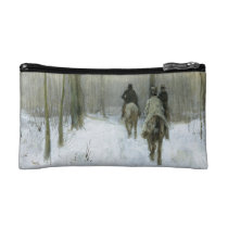 Riders in the Snow in the Haagse Wood, Anton Mauve Makeup Bag at  Zazzle