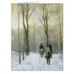 Riders In The Snow In The Haagse Wood, Anton Mauve Card at Zazzle