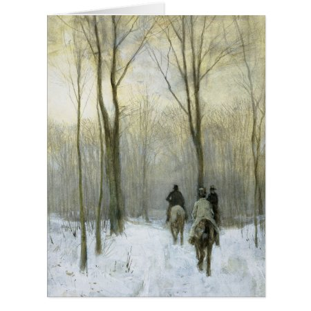 Riders In The Snow In The Haagse Wood, Anton Mauve Card