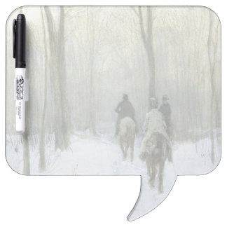 Riders in the Snow in the Haagse Wood, Anton Mauve Dry-Erase Whiteboards