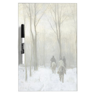 Riders in the Snow in the Haagse Wood, Anton Mauve Dry-Erase Board