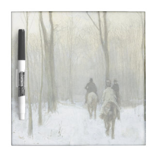 Riders in the Snow in the Haagse Wood, Anton Mauve Dry-Erase Boards