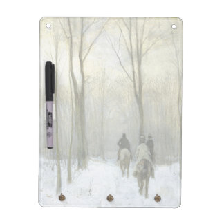Riders in the Snow in the Haagse Wood, Anton Mauve Dry Erase Board
