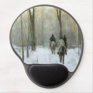 Riders in the Snow in the Haagse Wood, Anton Mauve Gel Mouse Pad
